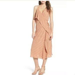 NEW Line and Dot Yoanna Ruffle Trim Wrap Dress MED